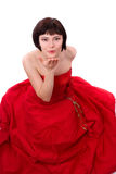 красный цвет повелительницы платья Стоковое Фото