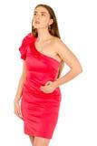 красный цвет повелительницы вечера платья Стоковые Фото
