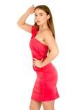 красный цвет повелительницы вечера платья Стоковые Изображения