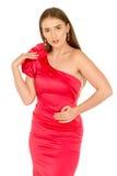красный цвет повелительницы вечера платья Стоковые Фотографии RF