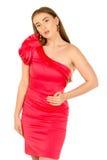 красный цвет повелительницы вечера платья Стоковая Фотография