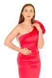 красный цвет повелительницы вечера платья Стоковое фото RF