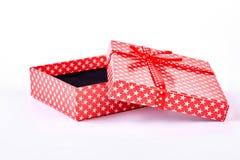красный цвет подарка коробки открытый Стоковое фото RF