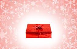 красный цвет подарка коробки праздничный Стоковое фото RF