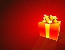 красный цвет подарка коробки предпосылки Стоковое Изображение RF