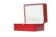 красный цвет подарка коробки пустой Стоковая Фотография