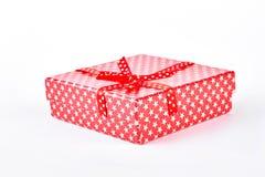 красный цвет подарка коробки смычка Стоковое фото RF