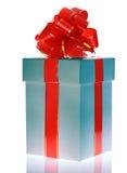 красный цвет подарка коробки смычка Стоковое Изображение