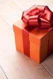 красный цвет подарка коробки Стоковое Фото