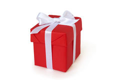красный цвет подарка коробки Стоковое Изображение RF
