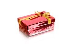 красный цвет подарка коробки Стоковые Изображения