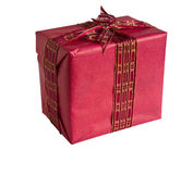 красный цвет подарка коробки Стоковое Изображение
