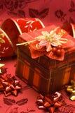 красный цвет подарка коробки Стоковое фото RF