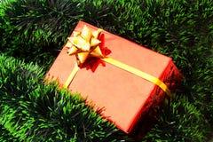 красный цвет подарка на рождество Стоковые Фотографии RF
