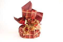 красный цвет подарка на рождество Стоковое фото RF
