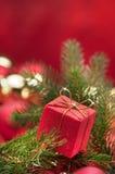 красный цвет подарка рождества Стоковые Фото