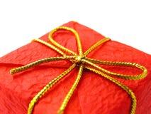 красный цвет подарка рождества Стоковая Фотография
