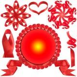 красный цвет подарка смычка пожалования стоковые фото