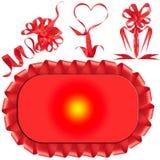 красный цвет подарка смычка пожалования стоковое фото rf