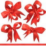 красный цвет подарка смычка пожалования стоковое изображение