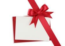 красный цвет подарка смычка раскосный Стоковое Изображение