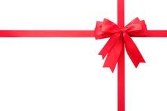 красный цвет подарка смычка Стоковая Фотография RF