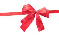 красный цвет подарка смычка Стоковые Изображения