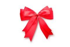 красный цвет подарка смычка Стоковое Фото