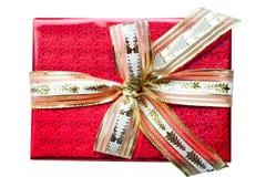 красный цвет подарка Стоковая Фотография