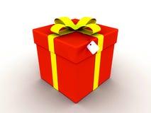 красный цвет подарка иллюстрация штока
