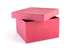 красный цвет подарка 3 коробок Стоковая Фотография