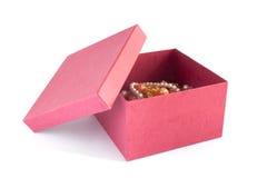 красный цвет подарка 4 коробок Стоковые Изображения RF