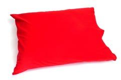 красный цвет подушки Стоковое Фото