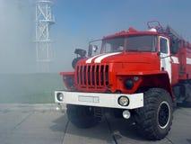 красный цвет пожара двигателя Стоковая Фотография