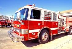 красный цвет пожара двигателя Стоковое Фото