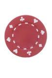 красный цвет покера обломока Стоковое фото RF
