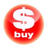 красный цвет покупкы кнопки Стоковые Изображения