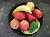красный цвет померанцев плодоовощ коллажа яблок Стоковое Фото