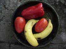 красный цвет померанцев плодоовощ коллажа яблок Стоковое фото RF