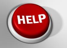 красный цвет помощи кнопки Стоковая Фотография RF