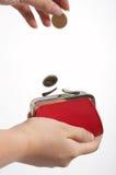 красный цвет портмона Стоковая Фотография