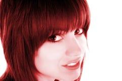 красный цвет портрета Стоковая Фотография RF