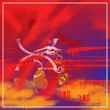красный цвет поцелуя Стоковое фото RF