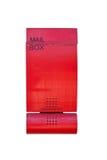 красный цвет почтового ящика Стоковая Фотография