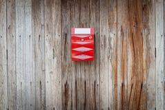 красный цвет почтового ящика Стоковые Фото