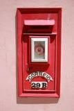 красный цвет почты коробки Стоковое Изображение