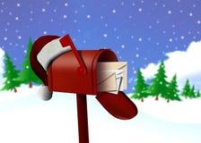 красный цвет почты шлема коробки иллюстрация вектора