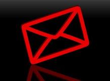 красный цвет почты 3d Стоковое фото RF