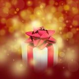 красный цвет подарка коробки предпосылки Стоковые Фотографии RF