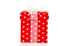 красный цвет подарка коробки смычка Стоковая Фотография RF